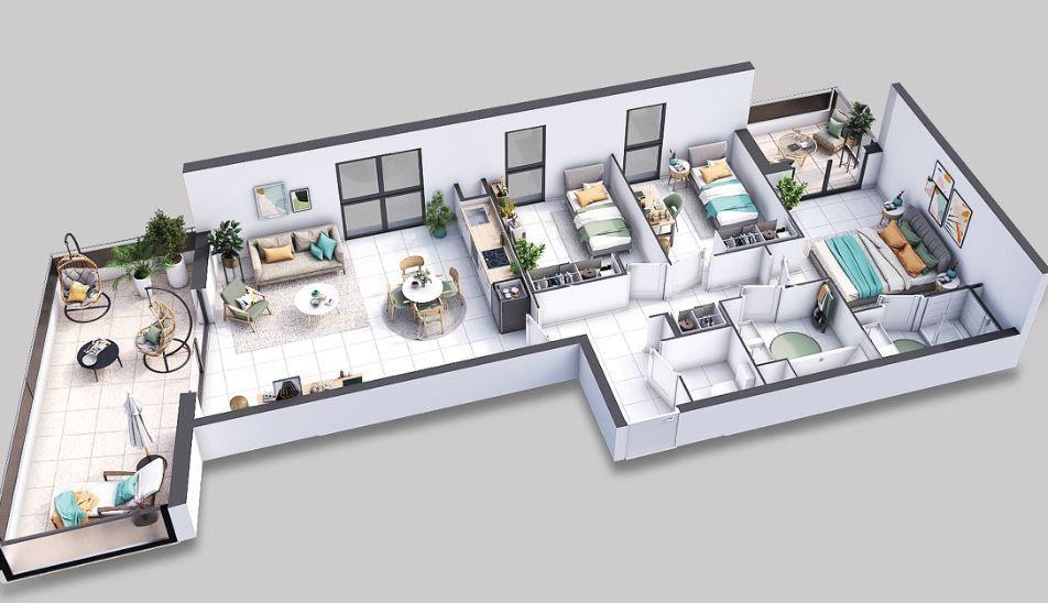 Appartement à vendre 4 83.8m2 à Villeneuve-lès-Avignon vignette-3