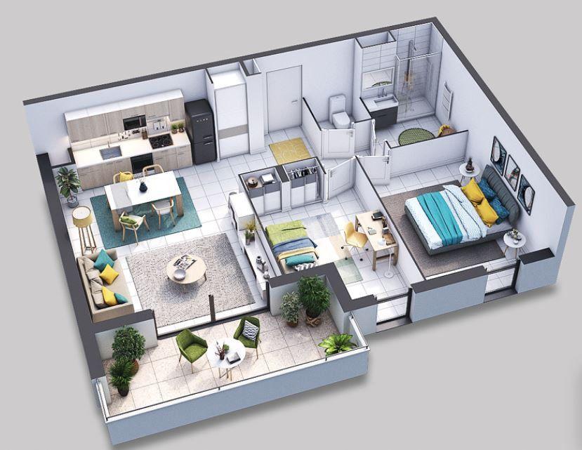 Appartement à vendre 3 66.02m2 à Villeneuve-lès-Avignon vignette-2