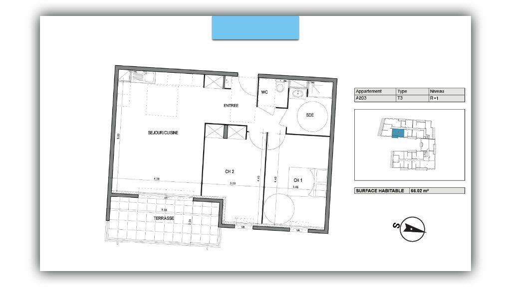 Appartement à vendre 3 66.02m2 à Villeneuve-lès-Avignon vignette-3