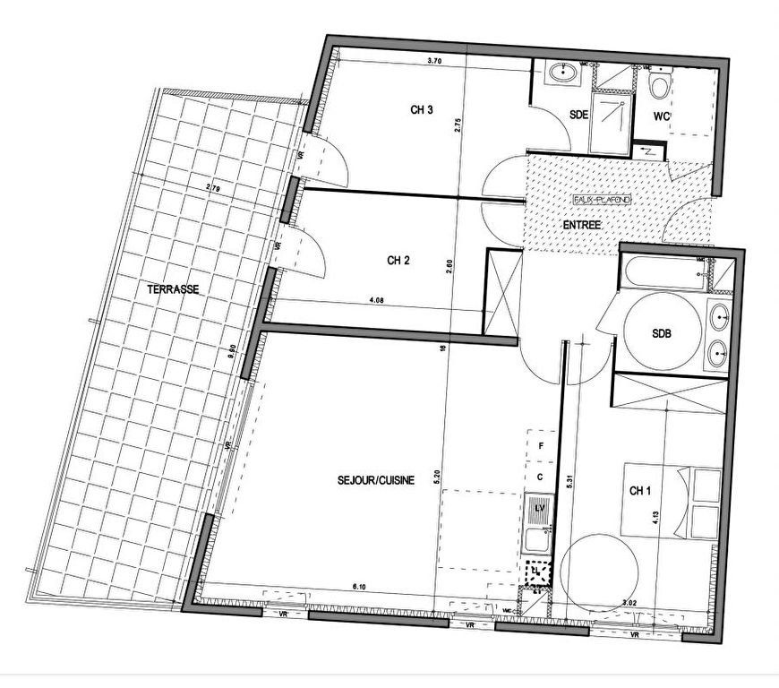 Appartement à vendre 4 89.3m2 à Villeneuve-lès-Avignon vignette-3