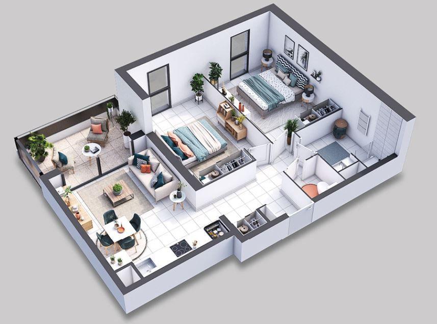 Appartement à vendre 3 62.45m2 à Villeneuve-lès-Avignon vignette-1