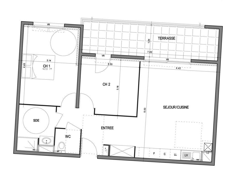 Appartement à vendre 3 64.82m2 à Villeneuve-lès-Avignon vignette-2