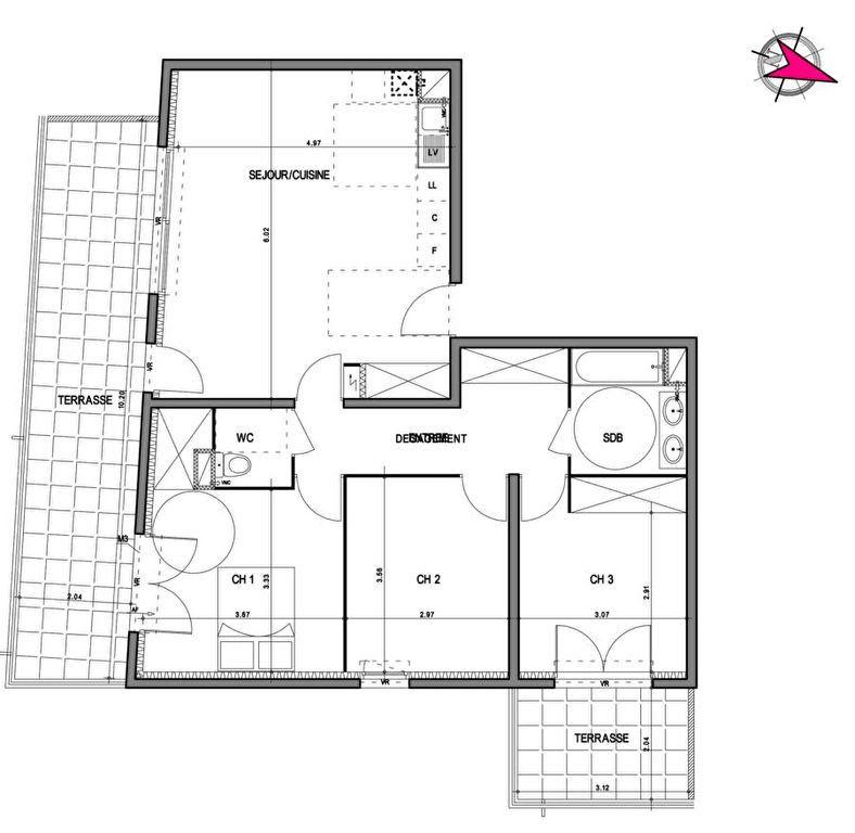 Appartement à vendre 4 80.01m2 à Villeneuve-lès-Avignon vignette-3