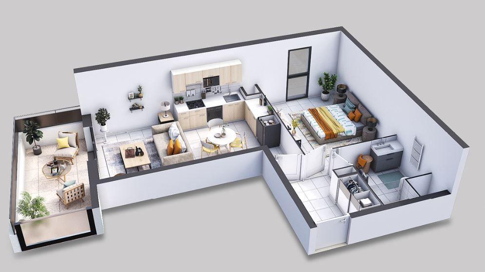 Appartement à vendre 2 45.3m2 à Villeneuve-lès-Avignon vignette-1