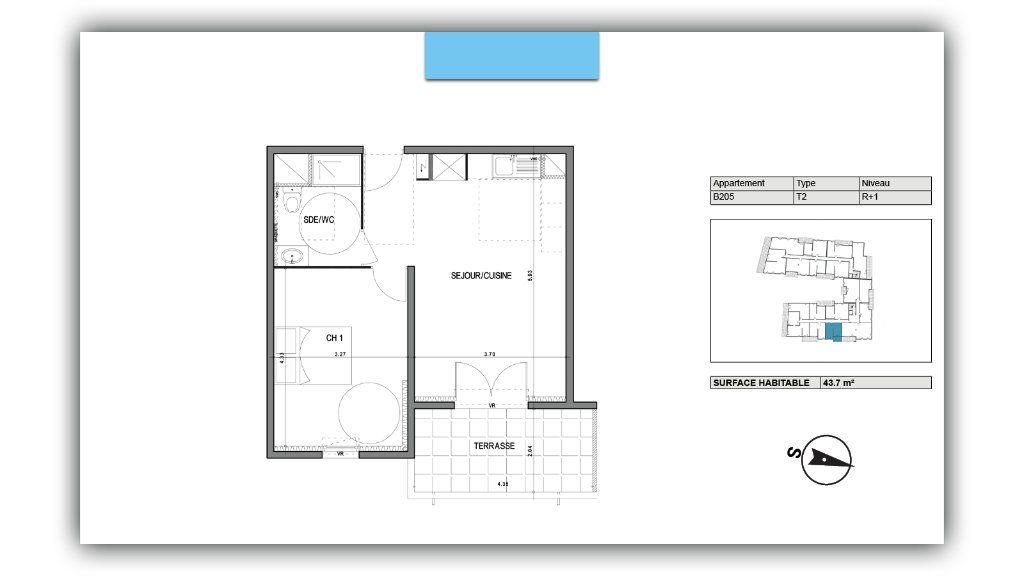 Appartement à vendre 2 43.7m2 à Villeneuve-lès-Avignon vignette-2