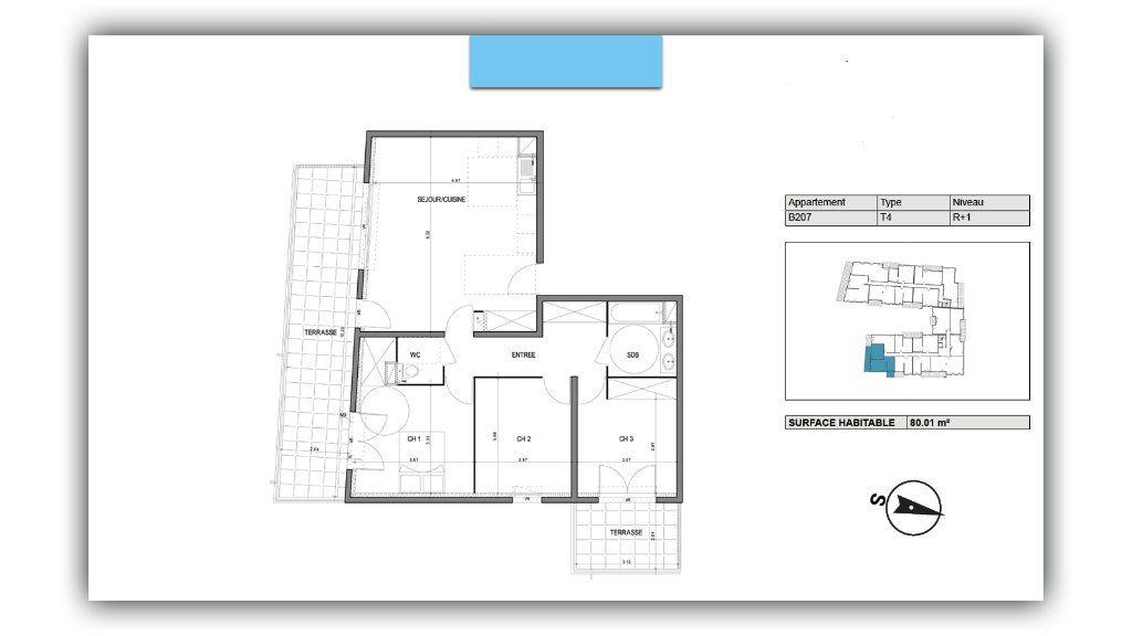 Appartement à vendre 4 80.01m2 à Villeneuve-lès-Avignon vignette-2