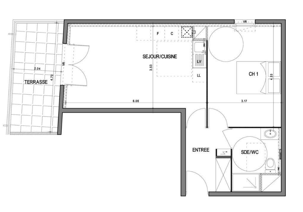 Appartement à vendre 2 45.3m2 à Villeneuve-lès-Avignon vignette-3