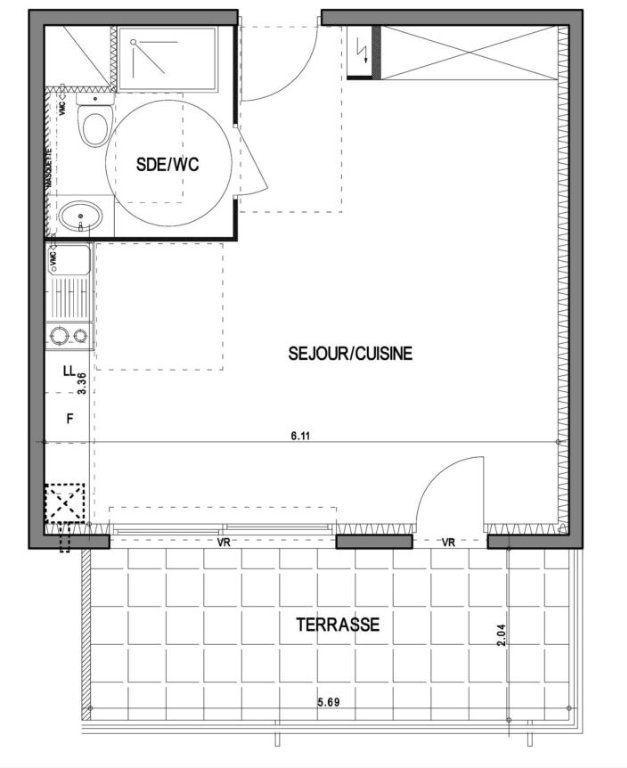 Appartement à vendre 1 35.05m2 à Villeneuve-lès-Avignon vignette-2