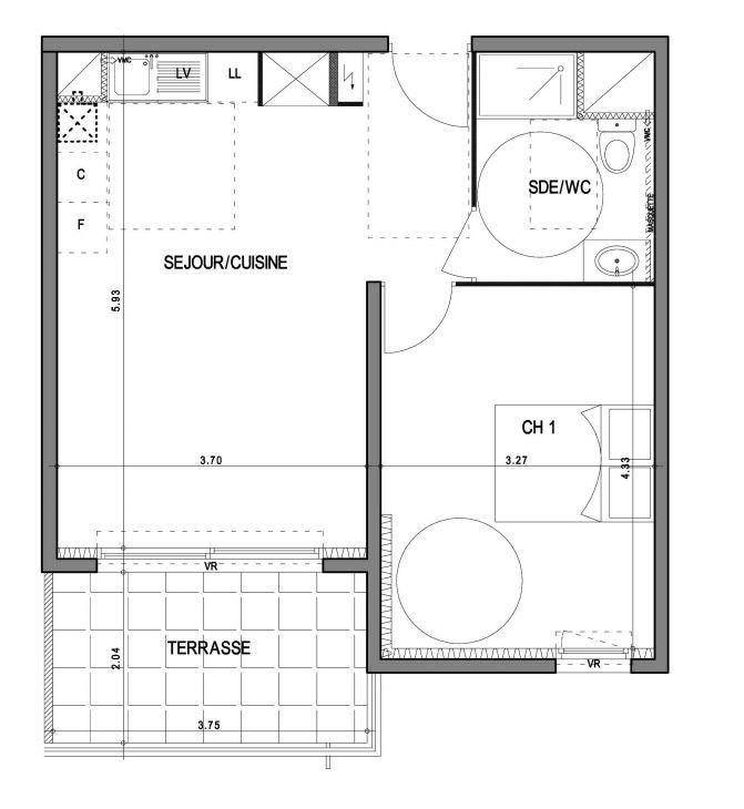 Appartement à vendre 2 43.7m2 à Villeneuve-lès-Avignon vignette-3