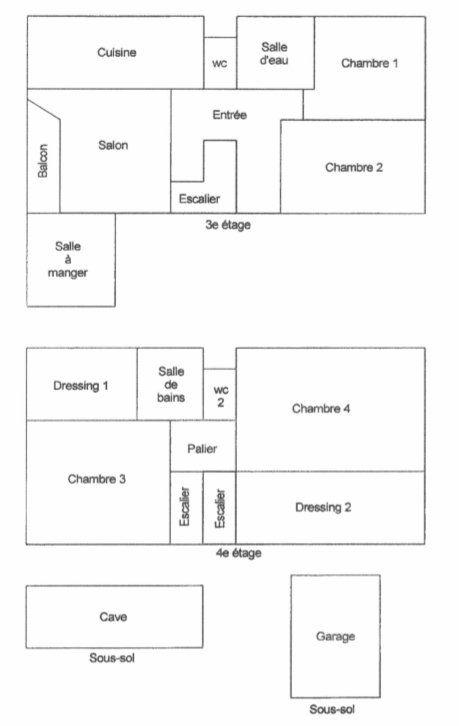Appartement à vendre 6 117m2 à Reims plan-1