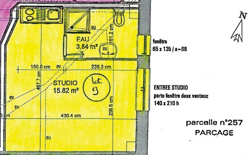 Appartement à vendre 1 20m2 à Toulouse plan-1