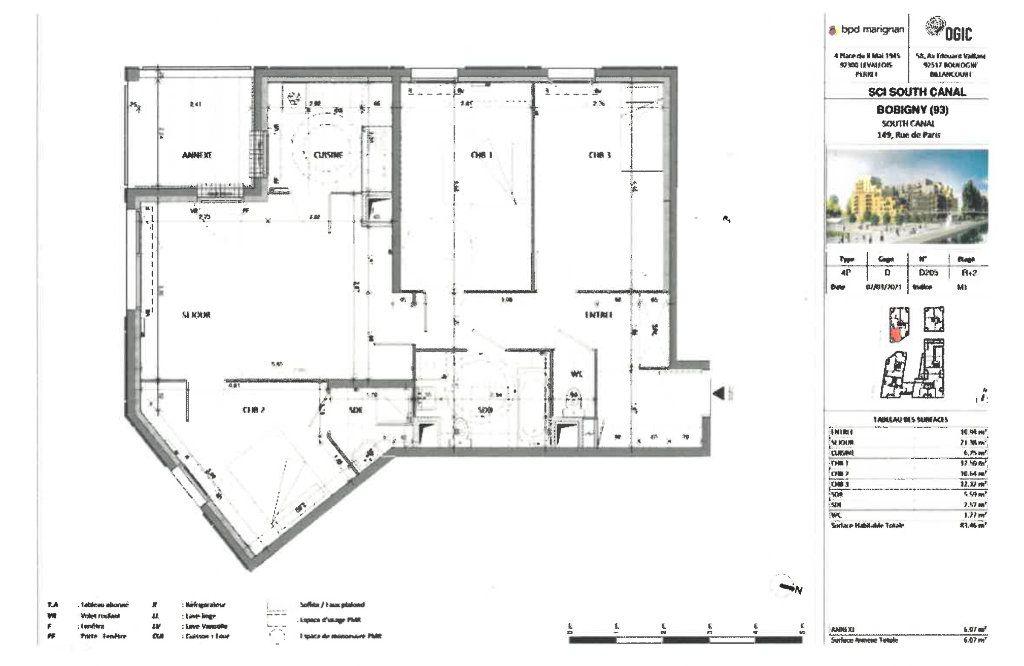 Appartement à louer 4 83.46m2 à Bobigny vignette-1