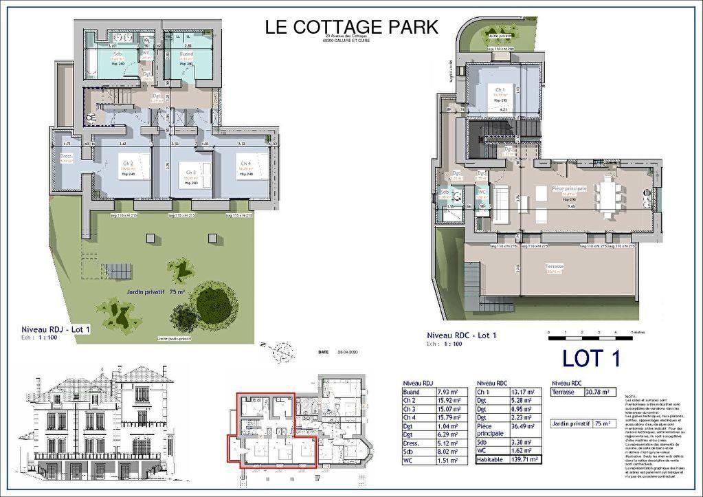 Appartement à vendre 6 139m2 à Caluire-et-Cuire vignette-4
