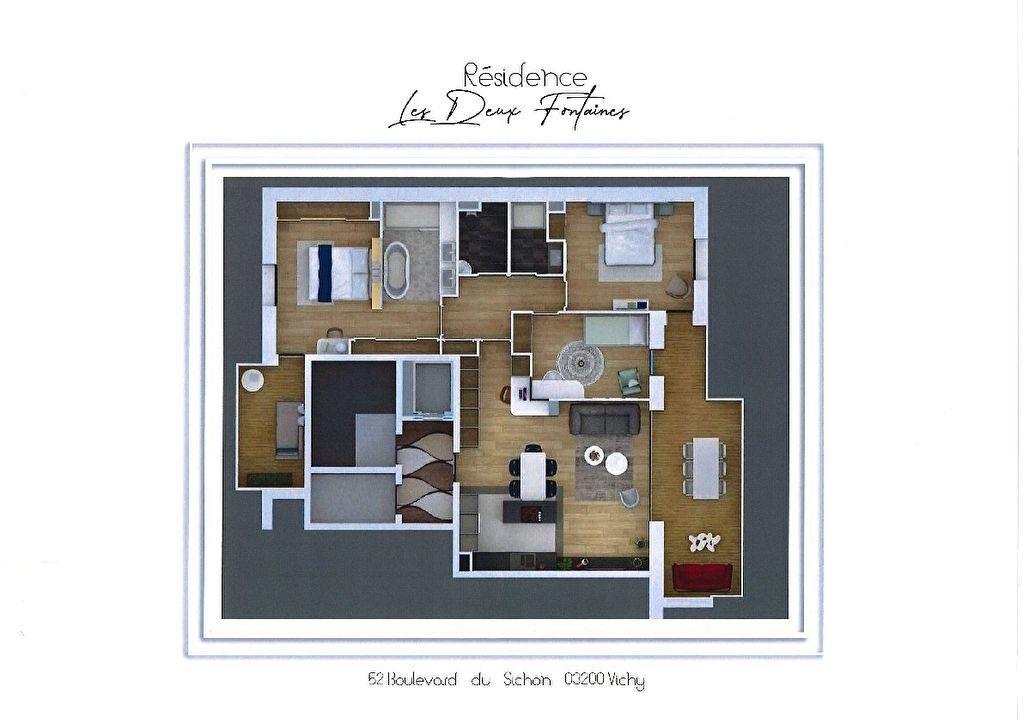 Appartement à vendre 3 82.1m2 à Vichy vignette-6