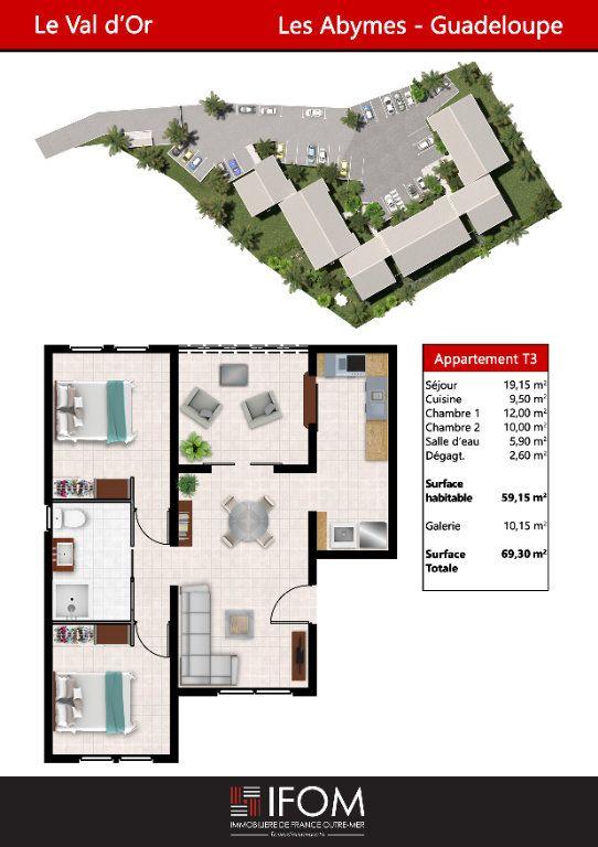 Appartement à vendre 3 59.15m2 à Les Abymes vignette-2