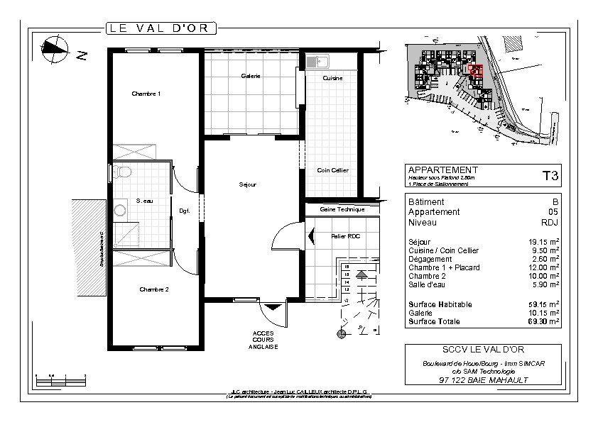 Appartement à vendre 3 59.15m2 à Les Abymes vignette-3