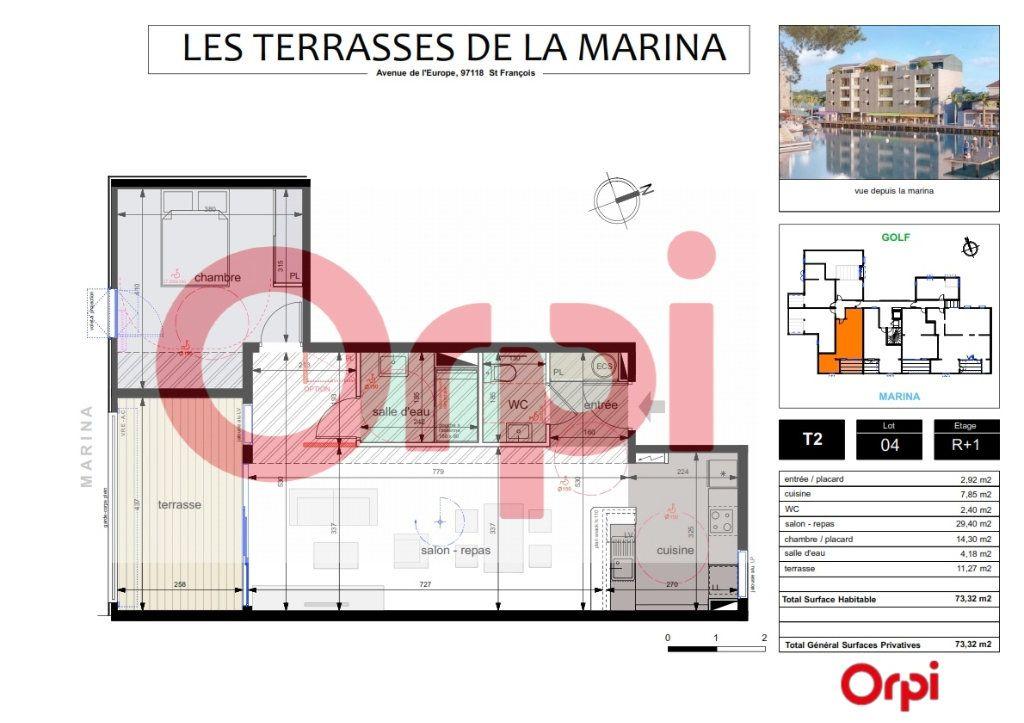 Appartement à vendre 2 61.05m2 à Saint-François vignette-1