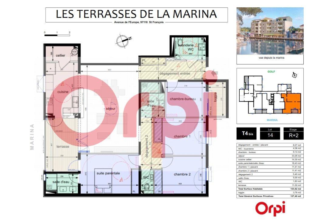 Appartement à vendre 4 118.82m2 à Saint-François vignette-1