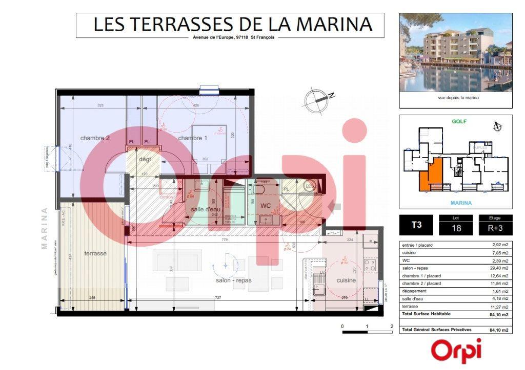 Appartement à vendre 3 72.83m2 à Saint-François vignette-1