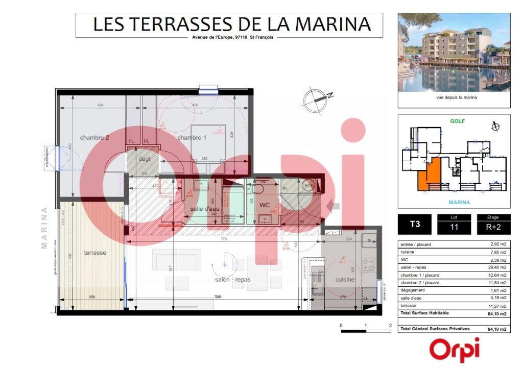 Appartement à vendre 3 72.83m2 à Saint-François vignette-2