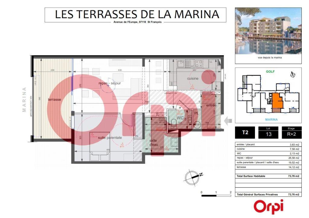 Appartement à vendre 2 59.64m2 à Saint-François vignette-3