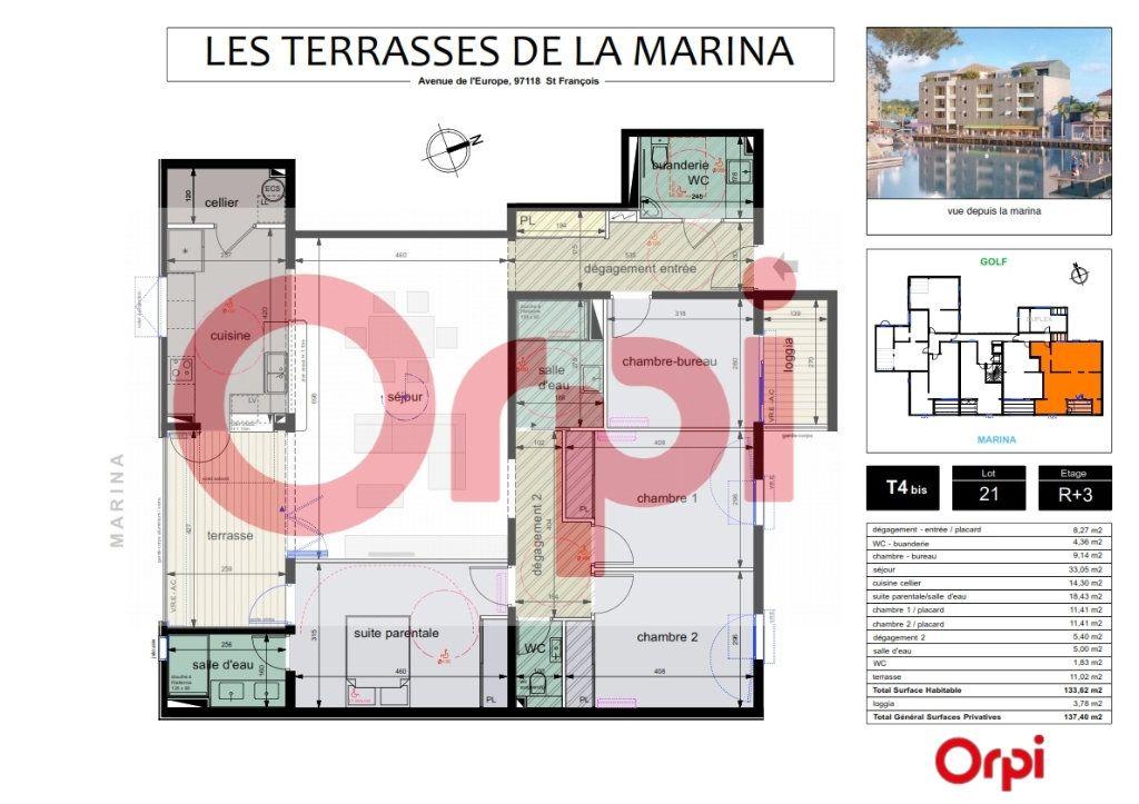 Appartement à vendre 5 122.6m2 à Saint-François vignette-2