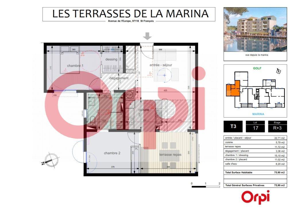 Appartement à vendre 3 46.89m2 à Saint-François vignette-4