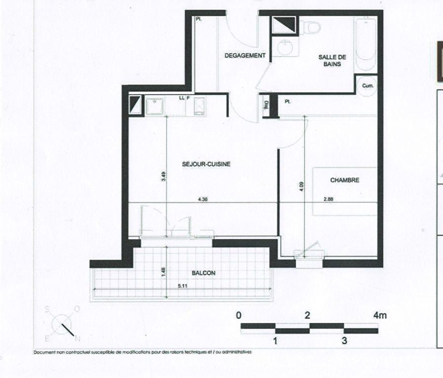 Appartement à vendre 2 43m2 à Toulouse plan-1