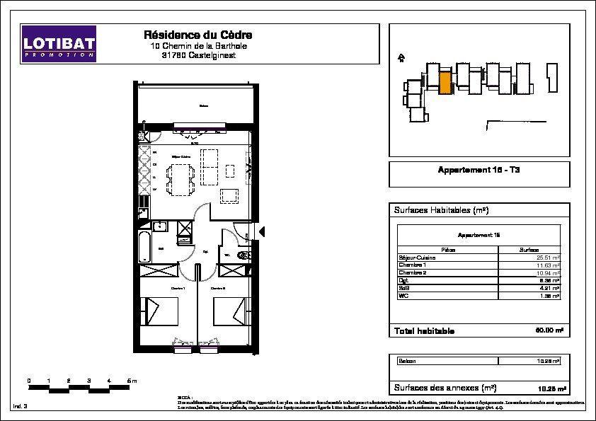 Appartement à vendre 3 60m2 à Castelginest vignette-7
