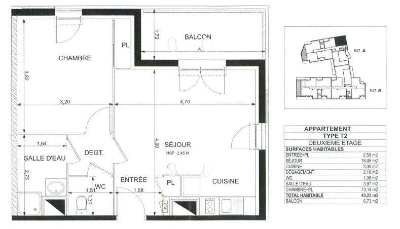 Appartement à vendre 2 43.23m2 à Colomiers vignette-3