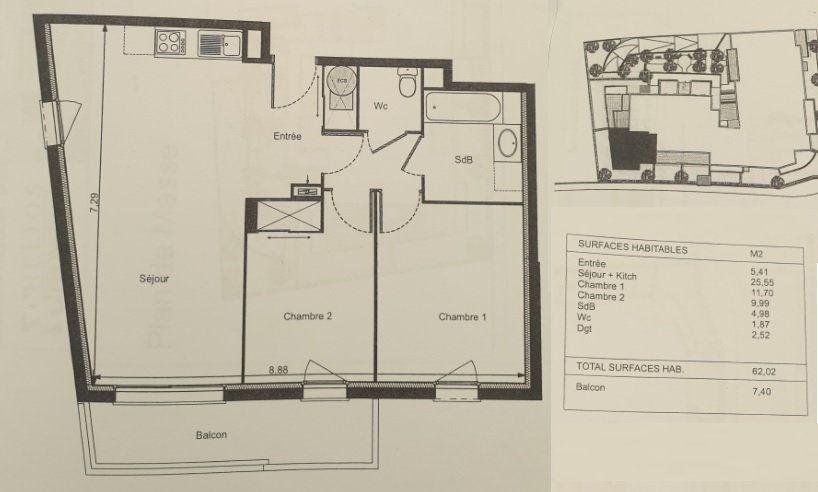 Appartement à vendre 3 62m2 à Toulouse vignette-8