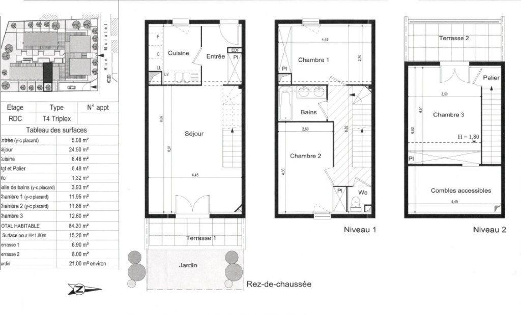 Appartement à vendre 4 84.2m2 à Toulouse vignette-2