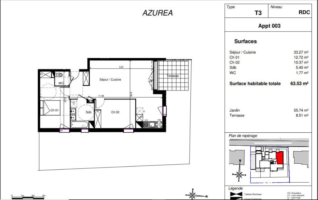 Appartement à vendre 3 63.53m2 à Toulouse vignette-2