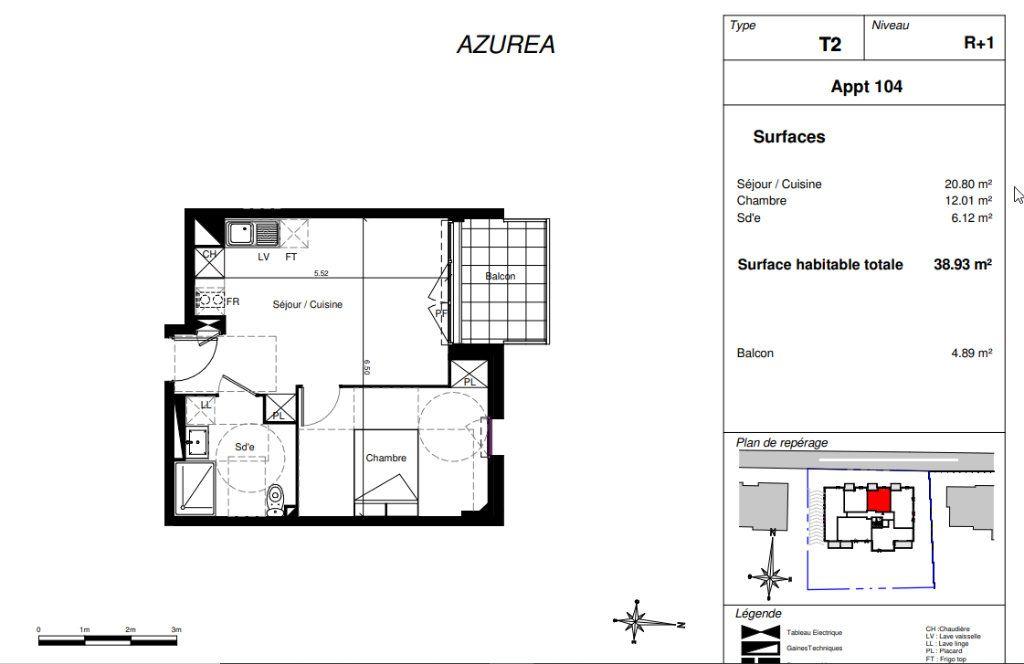 Appartement à vendre 2 38.93m2 à Toulouse vignette-2