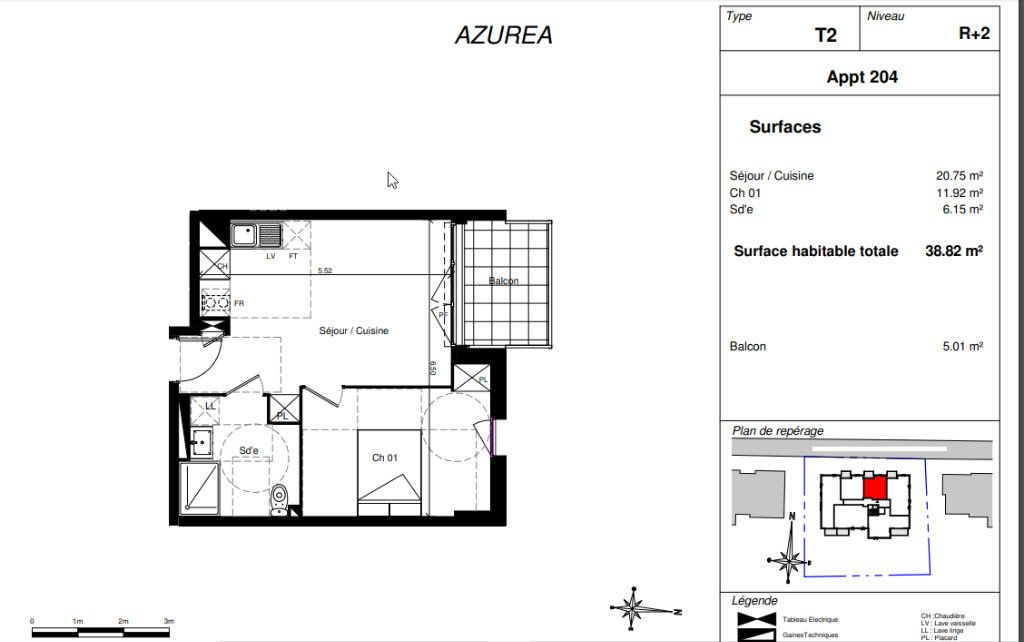 Appartement à vendre 2 38.82m2 à Toulouse vignette-2