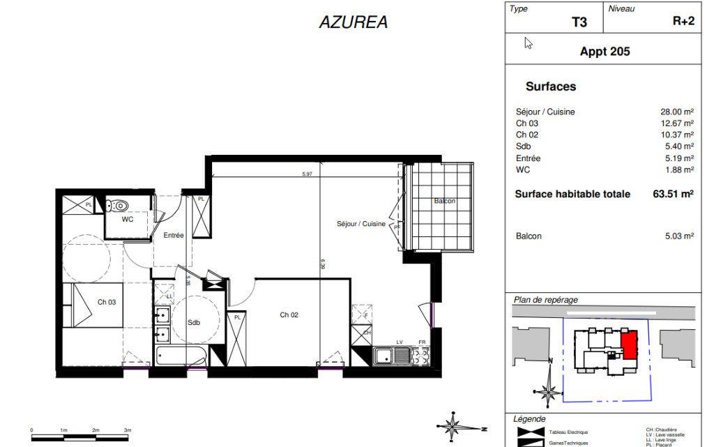 Appartement à vendre 3 63.51m2 à Toulouse vignette-2