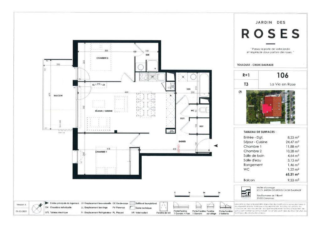 Appartement à vendre 3 65.31m2 à Toulouse vignette-4