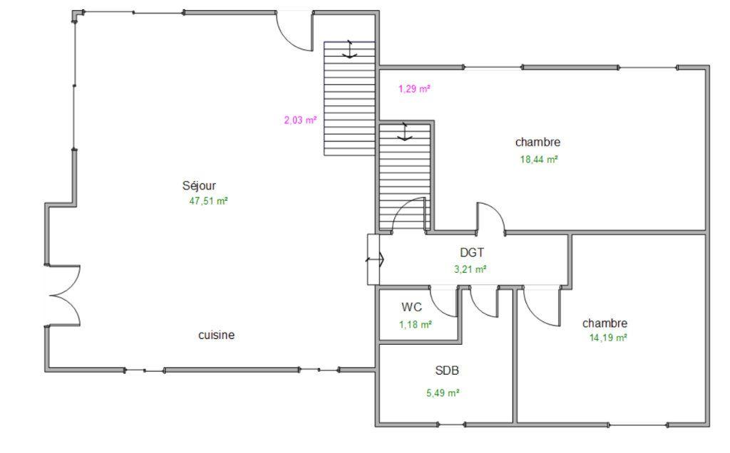 Maison à vendre 7 137m2 à Éveux plan-1