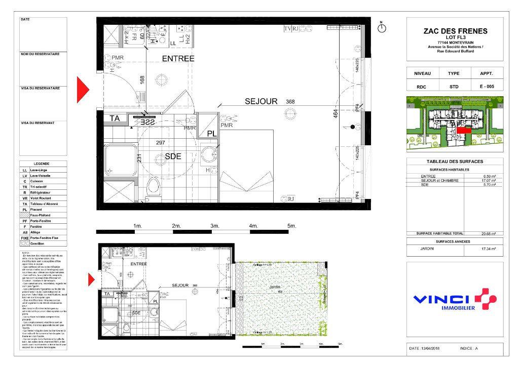 Appartement à vendre 1 29.68m2 à Montévrain vignette-1