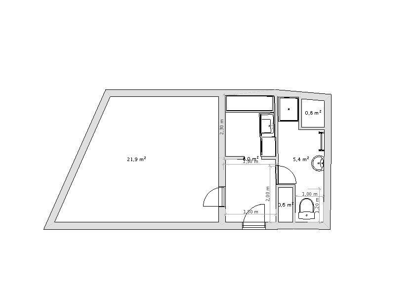 Appartement à louer 1 34.78m2 à Paris 6 plan-1