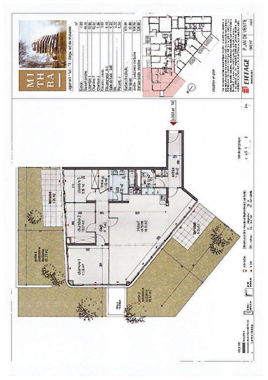 Appartement à vendre 4 103m2 à Montpellier plan-1
