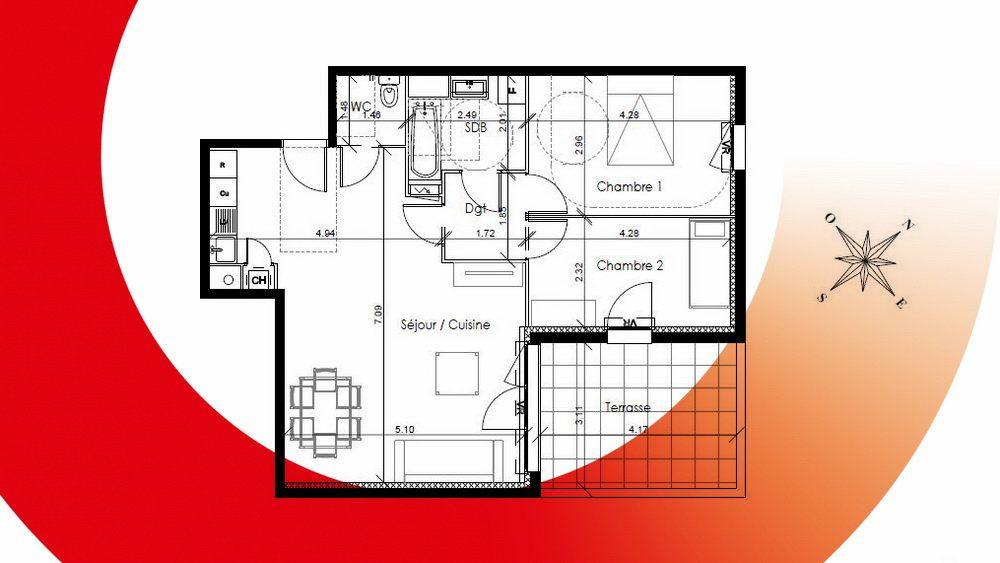 Appartement à vendre 3 68m2 à Montpellier vignette-3
