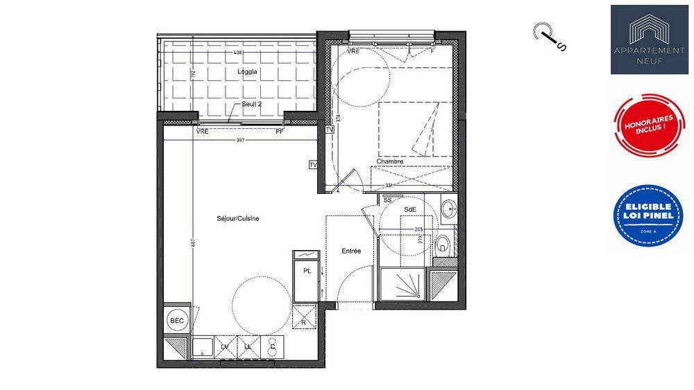 Appartement à vendre 2 45m2 à Castelnau-le-Lez vignette-6