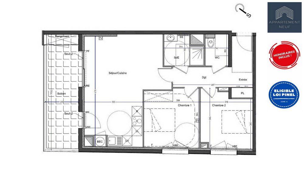 Appartement à vendre 3 67m2 à Castelnau-le-Lez vignette-7