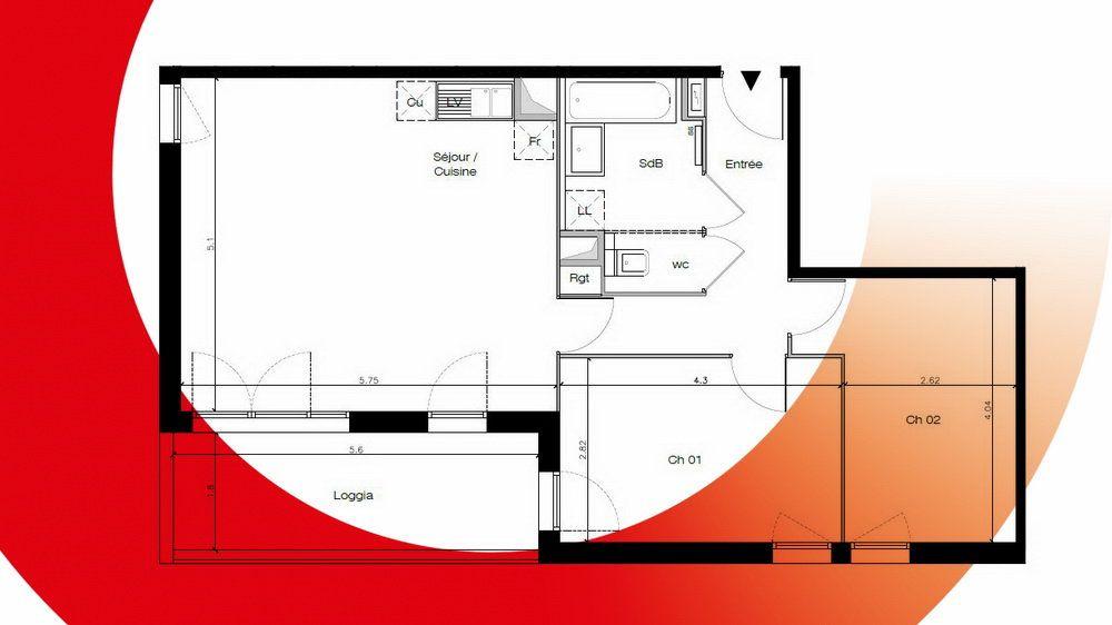Appartement à vendre 2 65.35m2 à Montpellier vignette-4