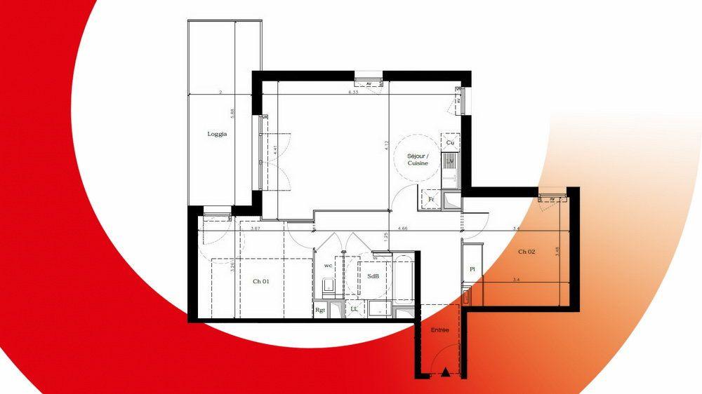 Appartement à vendre 2 65.35m2 à Montpellier vignette-6