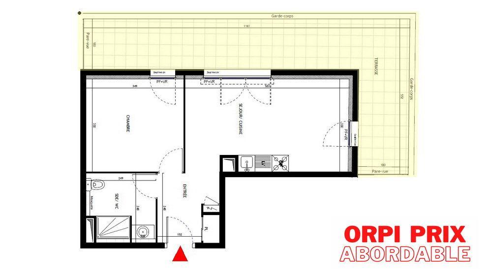 Appartement à vendre 2 41.4m2 à Montpellier vignette-1