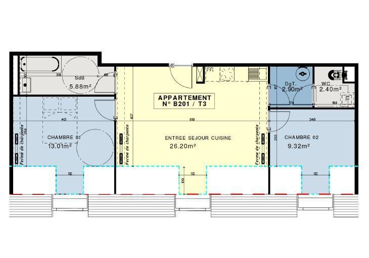 Appartement à vendre 3 59.88m2 à Compiègne vignette-5