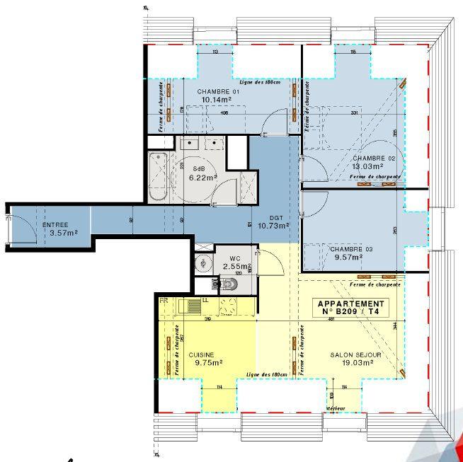 Appartement à vendre 4 84.59m2 à Compiègne vignette-11