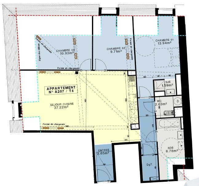 Appartement à vendre 4 90.57m2 à Compiègne vignette-6